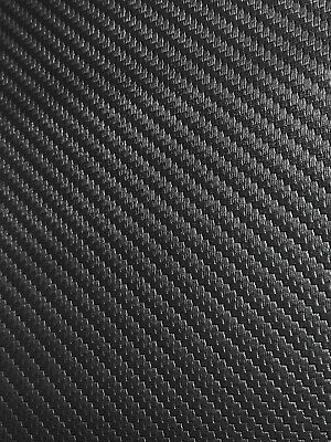 "Marine Vinyl Fabric Carbon Fiber Black Upholstry Outdoor Car Boat 54"" By The Yd"