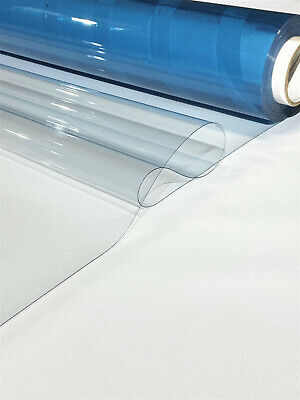 "Clear Vinyl 30 Gauge Marine Isinglass Double Polished Boat Auto 54"" By The Yard"