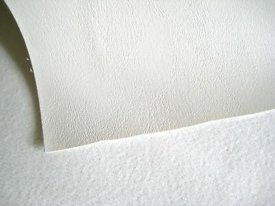 """Marine Vinyl Fabric Bright White 30 Yards Outdoor Auto Boat Upholstery 54"""" Wide"""