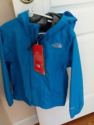 north face rainjacket blue boys size 6