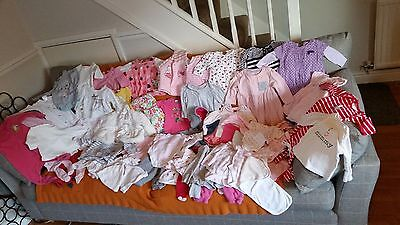LARGE Baby Girl's NEXT, Mothercare, TU, M&S Clothes Bundle Size 0 -3- 6 Months