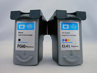 PG40 CL41 Ink Cartridge for Canon Pixma iP2600 iP2200 iP1800 MP470 MP460 220 2pK
