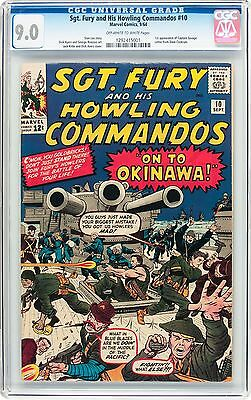 Sgt Fury 10 CGC 9.0 VF/NM 1st Appearance of Capt. Savage  Marvel 1964 OW/W