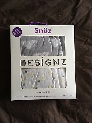 Snuz Crib 2 Pack Fitted Sheets - Cloud Nine