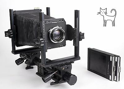 Toyo 45CX 4X5 monorail camera with Schneider 210mm F5.6 lens + holders