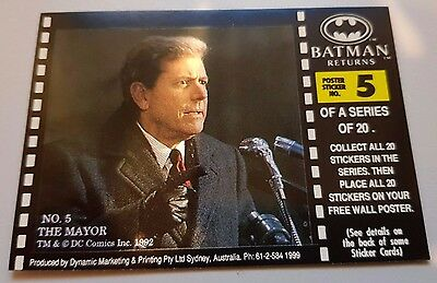 BATMAN RETURNS Movie trading card Poster sticker No 5 - THE MAYOR