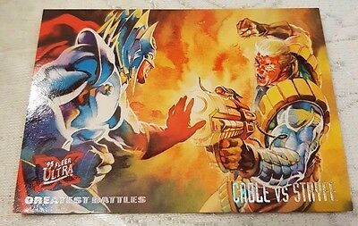 Marvel Fleer Ultra #128 CABLE VS STRYFE 1995 X-Men Trading Card