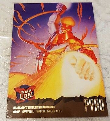 Marvel Fleer Ultra #60 PYRO 1995 X-Men Trading Card