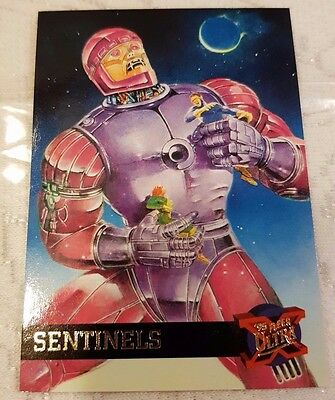 Marvel Fleer Ultra #42 SENTINALS 1995 X-Men Trading Card