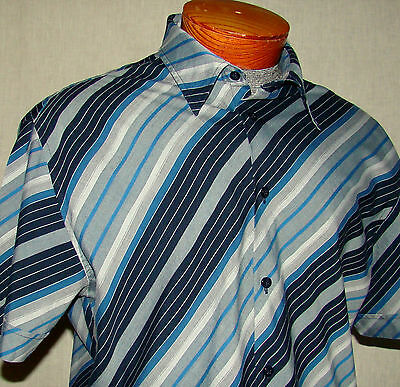 Blue Gray Black Short Sleeve Ben Sherman Casual Shirt 4 Xl