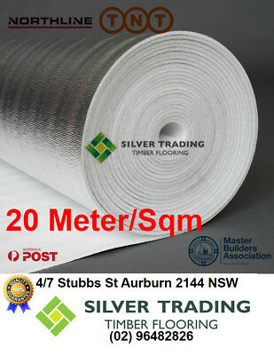 3mm Silver Foil Underlay /FLOATING FLOOR /FLOOR /TIMBER LAMINATE 20M/SQM BULK