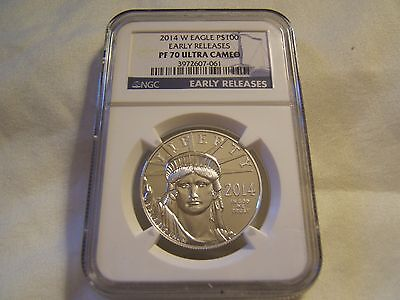 2014 W $100 proof Platinum Eagle NGC PF70 Early Releases - key date