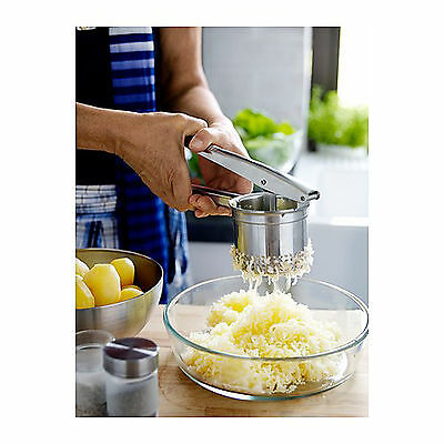 IKEA Potato Press Masher Stainless Steel Ricer Handheld Purée Juice Fruit Maker