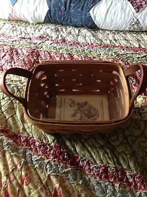 Longaberger Tea Basket With Plastic Protector