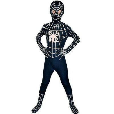 Boys Black Suit Spider-Man kids superhero Party cosplay costume Christmas gifts%