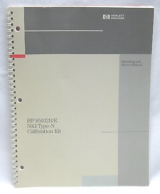 HP Operating & Service MANUAL 85032B/E Calibration Kit  85032-90020 2nd Ed.