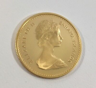 """""""Collectible"""" 1967 Proof Bahamas $10 Gold Coin"""