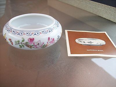 Miniature Gardenia Bowl by Franklin Porcelain Limited Edition from 1982!