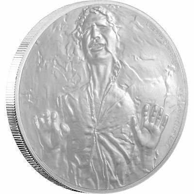 NIUE Han Solo 1 oz Silver Proof Coin With OGP & COA (NEW) & Free Pad