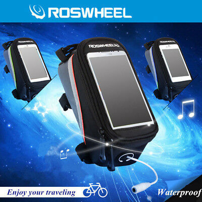 Bike Bicycle Cycling Front Frame Pannier Tube Bag Pouch Holder Mobile Phone