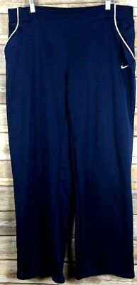 Nike Fit Dry Womens Pants Athletic Track Running Zip Legs  Blue Size XL (16-18)