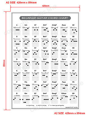 Guitar Chord Poster Chart A2 Size *new*