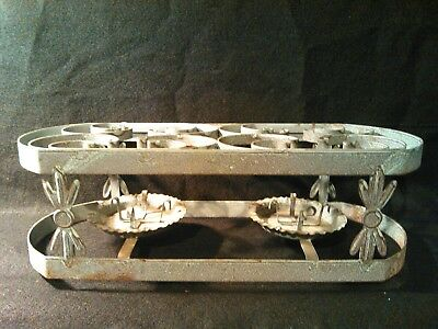 antique vintage country style primitive candle heated metal food warmer kitchen