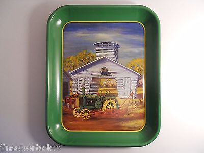 "JOHN DEERE ""Tower Crib"" Advertising Tray ~ GP Tractor Planter Sheller Minnesota"