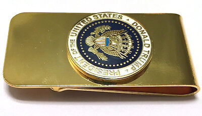 Donald Trump Presidential Coin Embossed Golden Money Clip Stainless steel Mold