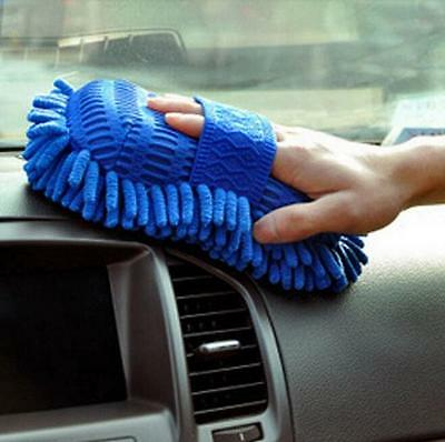 Microfiber Chenille Car Vehicle Care Washing Brush Sponge Pad Cleaning Tool NEW