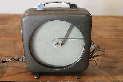 ~~~ Vintage Dickson Minicorder Recording Thermometer With Glass Face ~~~