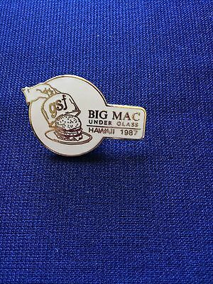Big Mac Under Glass GSF Hawaii 1987 Collector Lapel Pin McDonald's Event