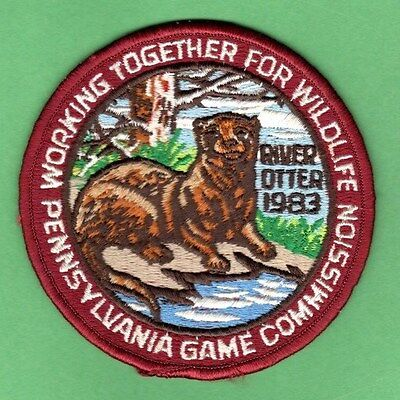 Pa Penna Pennsylvania Game Commission WTFW ORIGINAL1983 River Otter patch