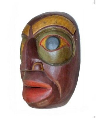 Hand Carved Wood Totem Mask-hand Carved From The Island Of Bali