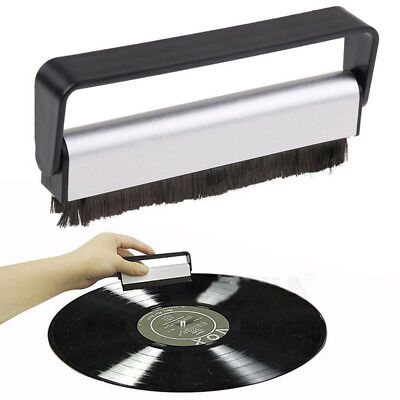 Carbon Fiber Anti-Static Record Cleaning Brush Cleaner Stylus Dust Remover Brush