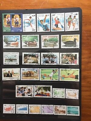 28 Used Stamps From Cambodge