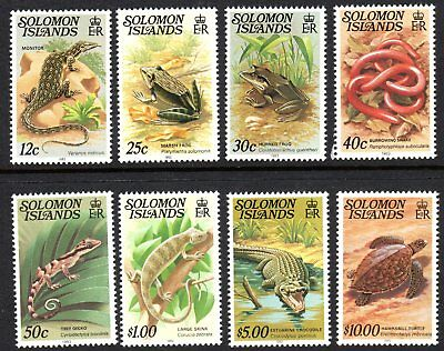 SOLOMON ISLANDS 1982 Reptiles MNH Set of 8 with year date.