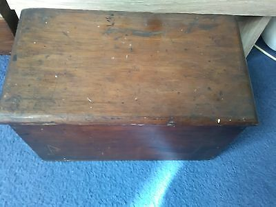Antique Wooden Stationery Box