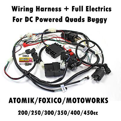 Complete Wiring Harness Loom CDI Coil Regulator Water Cool ATV Quad Buggy Engine