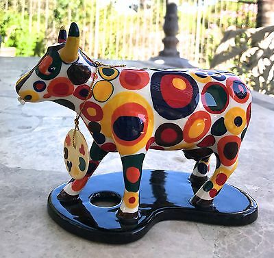Rare Retired Collectible Cow Parade Figurine Got Spots? #7343