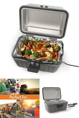 Portable Microwave Stove Oven Lunch Box For Pre-Cooked Meals 12V Car Plug In NEW