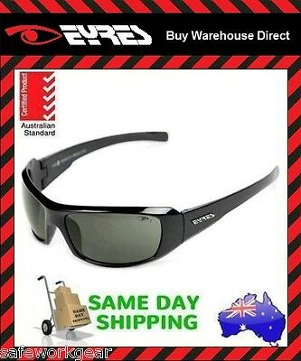 Eyres 620 THUNDER Smoke Lens Black Frame Work Safety Eye Glasses Specs