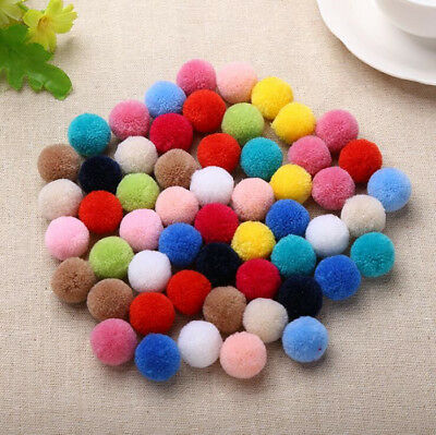 50pcs 20mm mix color pompom Fluffy Plush cloth Craft Soft pon pom pon poms ball