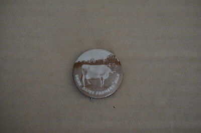 RARE 1940s DRINK DAIRY FARMERS MILK PROMOTIONAL ADVERTISING GIVE AWAY BADGE