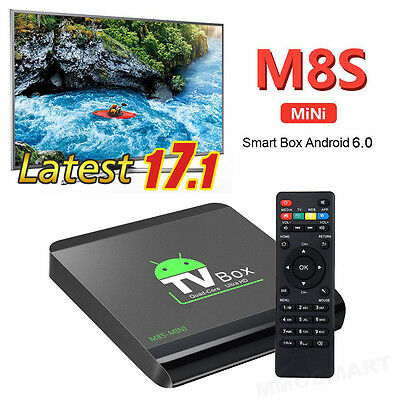 New M8S-MINI Quad Core Smart Android TV BOX KDMC 17.1 HDMI WIFI 4K With Keyboard