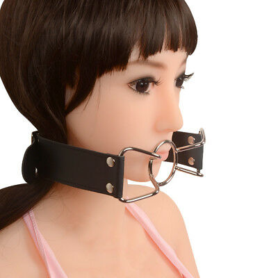 PU Leather Band Open Mouth Gag O Ring Mouth Stuffed Adult Games Toys For Couples