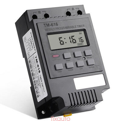 Electronic Weekly Programmable Digital Timer Switch Time Relay Control 220V fo12