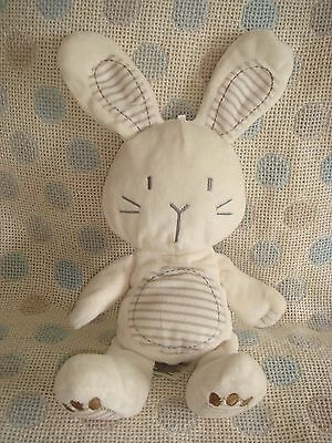 M&s Marks & Spencers Bunny Rabbit Rattle Hug Soft Toy Comforter Vgc