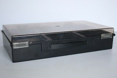 Cassette Carry Case Black and Clear Holds 30 Tapes