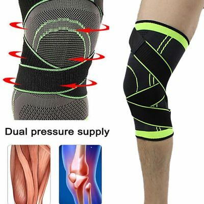 Compression Knee Support Sleeve Bandage Strain Sprain Injury Running Cycling GYM